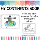 My Continents Book {Color and Black & White!}