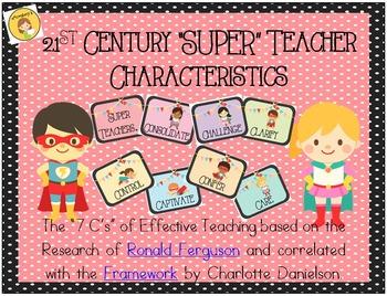 7 C's of Effective Teaching FREEBIE