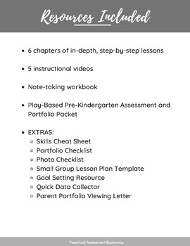 7 Day Preschool Assessment Bootcamp