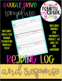 7 Day Reading Response Log in Google Drive