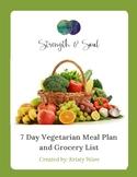 7 Day Vegetarian Meal Plan & Grocery List eBook