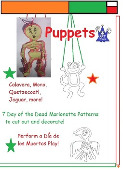 Day of the Dead or Dia de los Muertos - Art Puppets (10 Printable Patterns)
