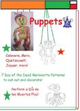 Day of the Dead or Dia de los Muertos - Art Puppets (10 Pr