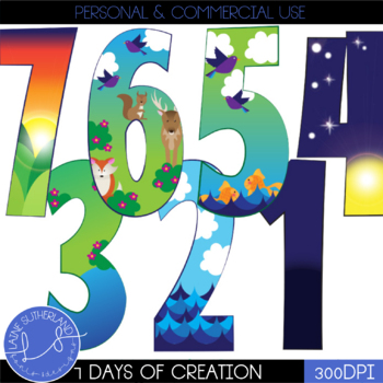 7 Days of Creation Clip Art Set