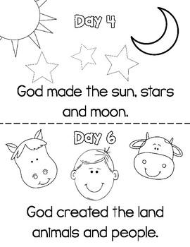 7 Days of Creation Mini Book