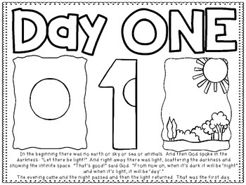 7 Days of Creation Story Boards and Coloring Sheets by Teacher