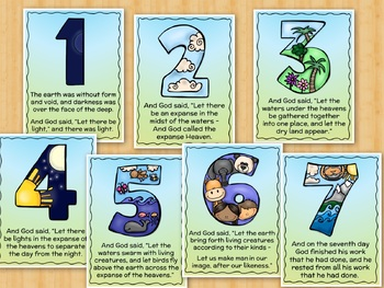 7 Days of Creation for Kids Posters, Worksheets, Book ...