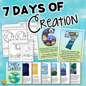 7 Days Of Creation Activities Posters Worksheets Book