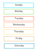 7 Days of the Week Chart