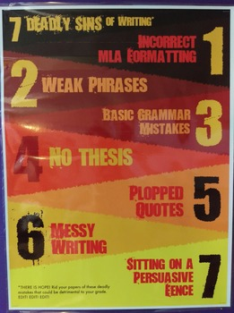 7 Deadly Sins of Writing poster