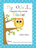 7 Different Owl Binder Covers/Parents Explanation/Binder Rules