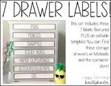 7 Drawer Label Sets!