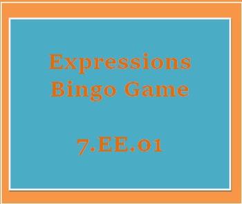 7.EE.1 Expressions Bingo Game