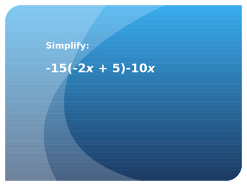 7.EE.1 7.EE.2 7.EE.4 7.EE.4a  Expressions Equations Powerpoint Review/Activity