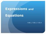 7.EE.1 7.EE.2 7.EE.4 7.EE.4a  Expressions Equations Powerp