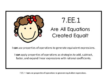 7.EE.1 Are All Equations Created Equal?