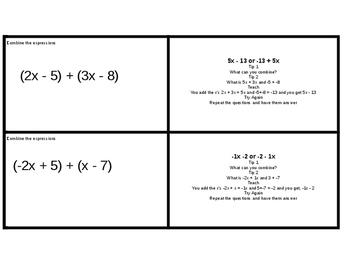 7.EE.1 - Combine Like Terms