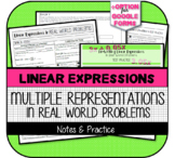 7.EE.2 - Re-Writing Linear Expressions Booklet: Notes & Te