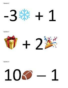 7.EE.3 Evaluating Algebraic Expressions with Emojis