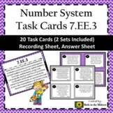 7.EE.3 Task Cards, Solving Multi-Step Real Life & Mathematics Problems