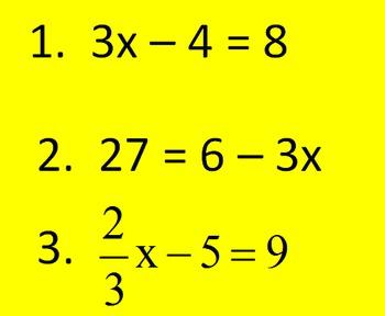 7.EE.4a Equation Bingo Game