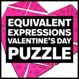 Valentine's Day Heart Puzzle 7.EE.A.1 Equivalent Expressions
