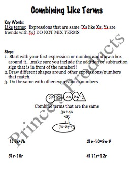 7. EE.4a Combining Like Terms Lesson 3