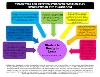 7 Easy Tips for Keeping Students Emotionally Regulated in the Classroom