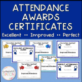 7 Editable Attendance Award Certificates - Improved, Excellent, and Perfect