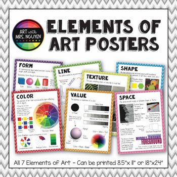 """Elements of Art Posters - Printable Package (8.5""""x11"""" and 18""""x24"""")"""