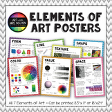"Elements of Art Posters - Printable Package (8.5""x11"" and"