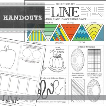 Elements of Art Worksheets: Visual Art Mini Lesson for MS and HS