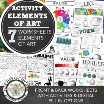 Elements Of Art Worksheets Visual Art Mini Lesson For Ms And Hs