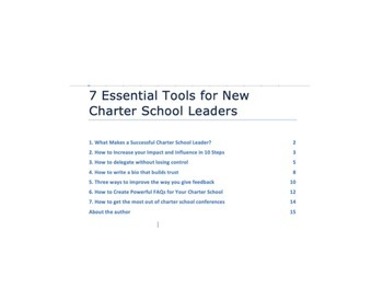 10 Essential Tools for New Charter School Leaders