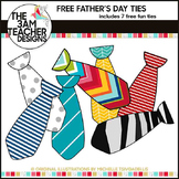 7 FREE FUNKY Father's Day  TIE'S Clip Art / Graphics