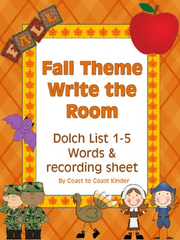 Fall ELA- Write the Room Activity