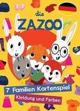 7 Familien Kartenspiel (German) - Kleidung und Farben