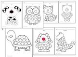 7 Fine Motor Skills Activity Bingo Dabber Pictures Animals theme