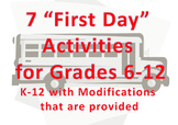 7 First Day Back to School Activities