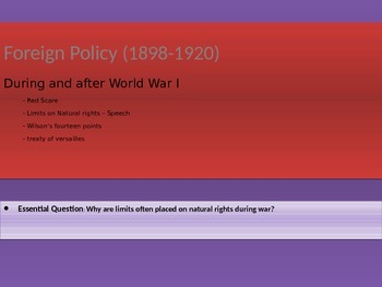 7. Foreign Policy (1898-1920) - Lesson 5 of 5 - During and After World War I