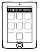 7 Forms of Energy- iPad Themed Notes (Interactive Notebook)