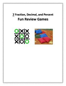 7 Fun Equivalent Fraction Decimal and Percent Games