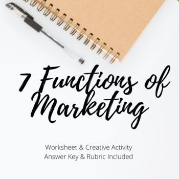 7 Functions of Marketing Worksheet & Activity