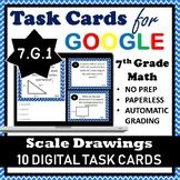7.G.1 Digital Task Cards, Scale Drawings of Geometric Figures Google Task Cards