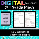 7.G.2 Digital Worksheet⭐Draw Geometric Shapes with Given Conditions