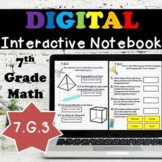 7.G.3 Interactive Notebook, 3D Figures and their Cross-Sections Digital Notebook