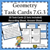 7.G.3 Task Cards, 3D Figures and their Cross-Sections Task Cards