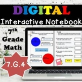 7.G.4 Interactive Notebook, Area & Circumference of a Circle Digital Notebook