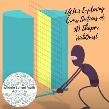 7.G.A.3 Exploring Cross Sections of 3D Shapes WebQuest