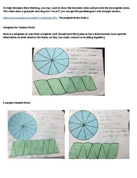 7.G.B.4 Comparing Circumference to Area of a Circle Activity